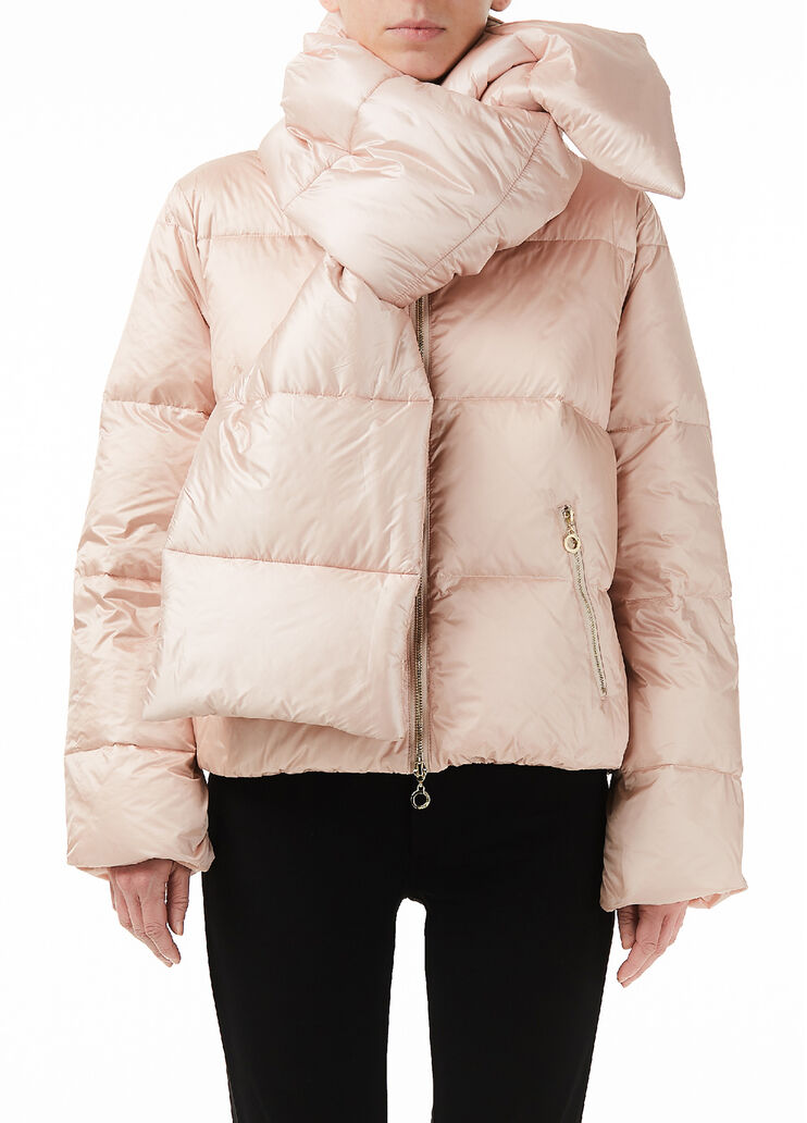 sangrado lucha Vicio  Short quilted down jacket with bow