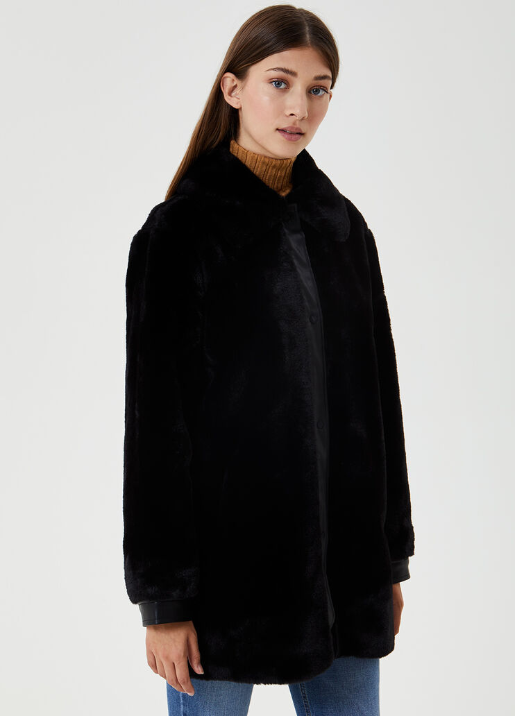 Faux Fur Winter Coat, Large Size Faux Fur Coats
