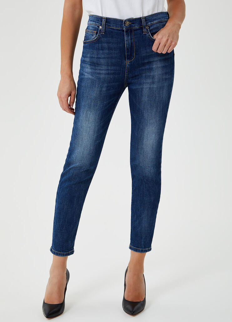 Jugar con Calendario amenazar  Jeans skinny a vita super alta