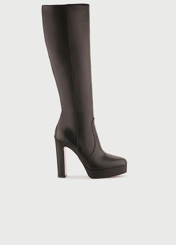 Al borde entrada ven  Knee-high leather boots