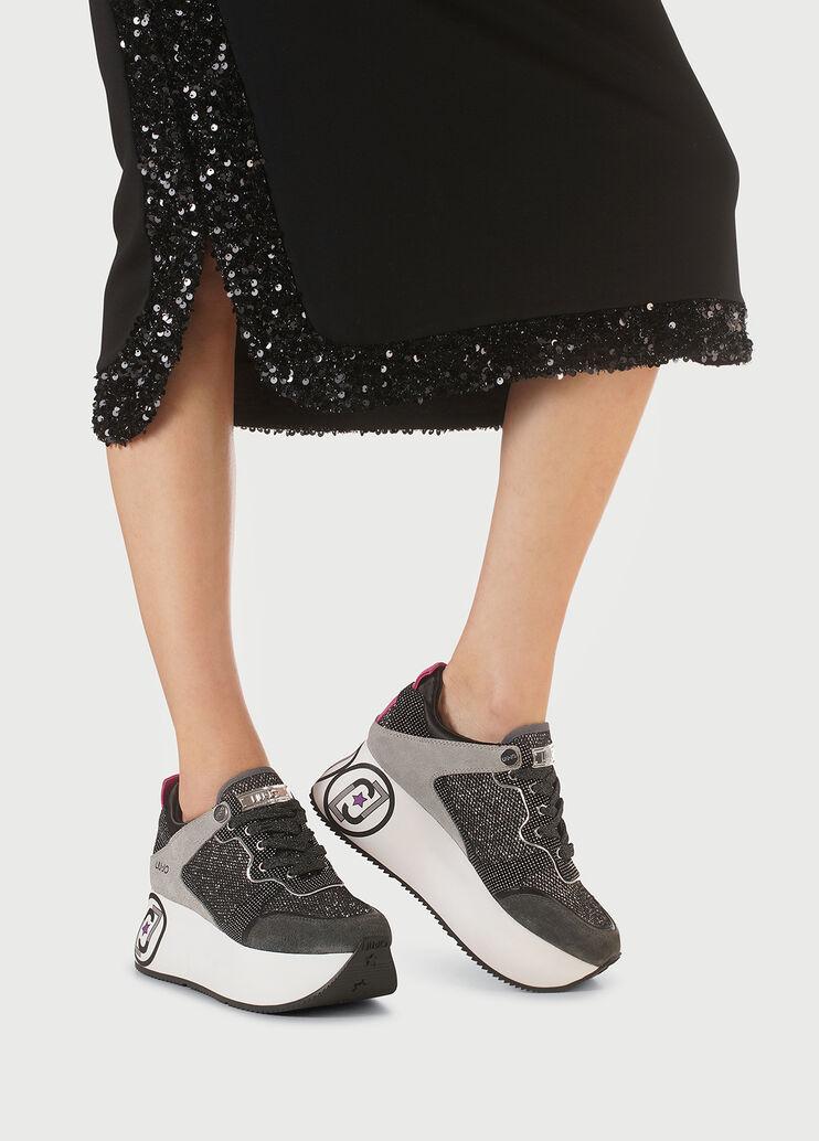 Details about  /LIU JO GIRL L4A4 20376 0491X104 Grey Woman Sneakers Low Walking Fashion