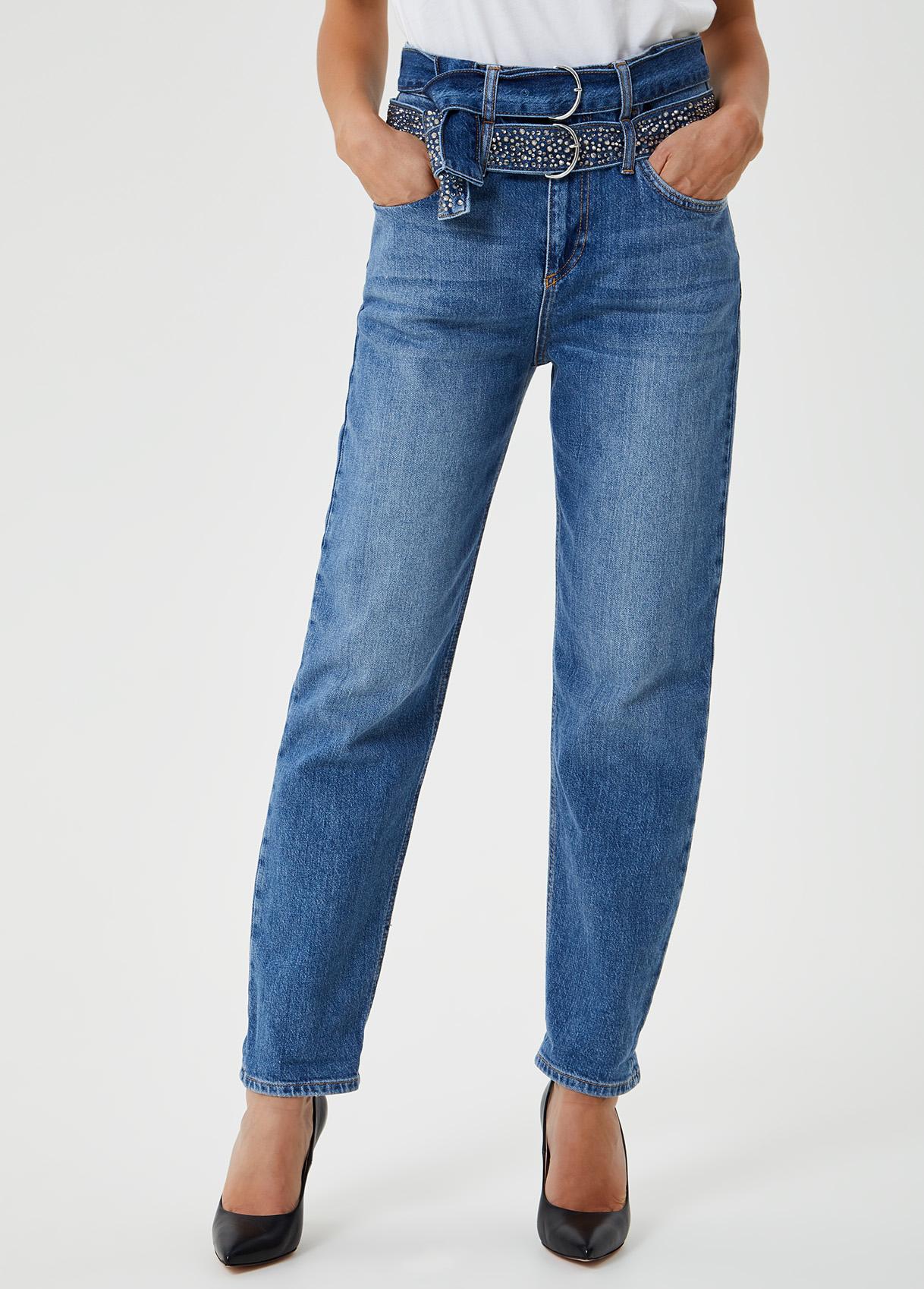 Jeans boyfriend con cintura Blu Liu Jo - large