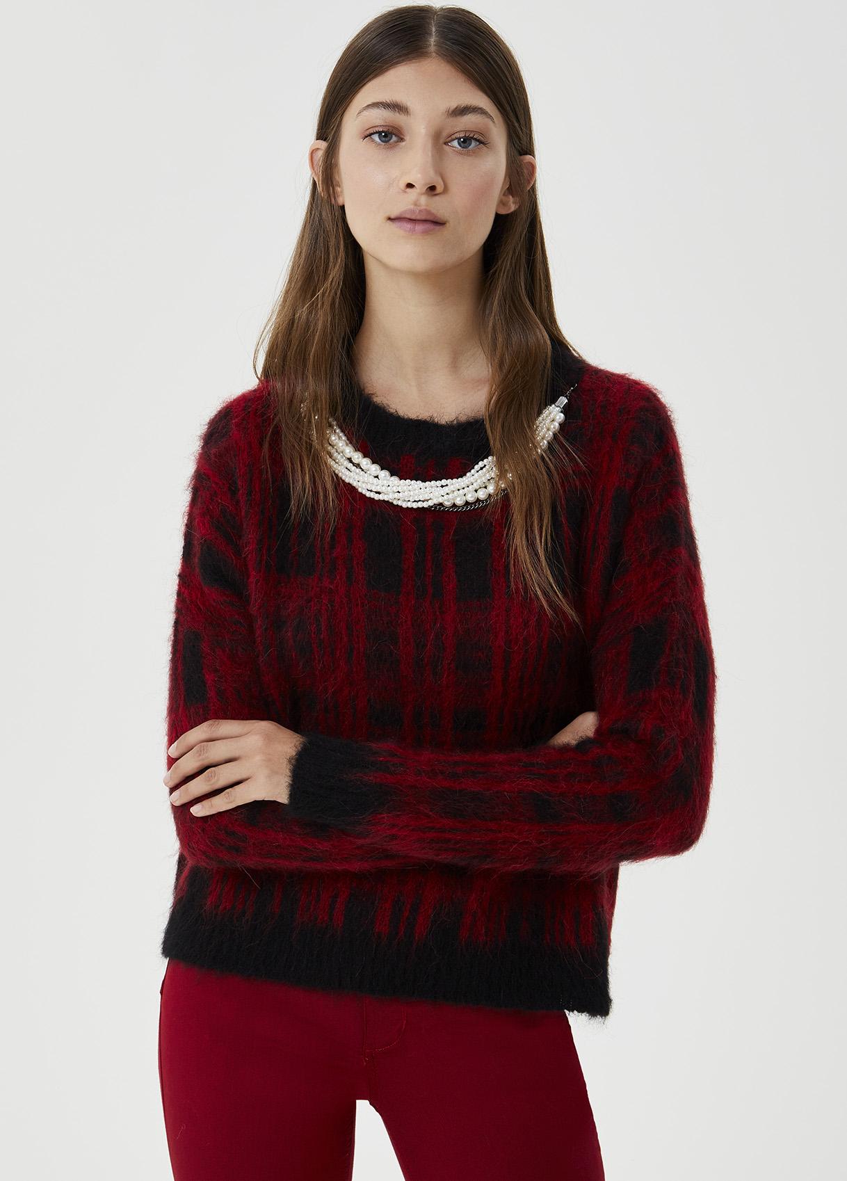 Maglia con perle Rosso Liu Jo - large