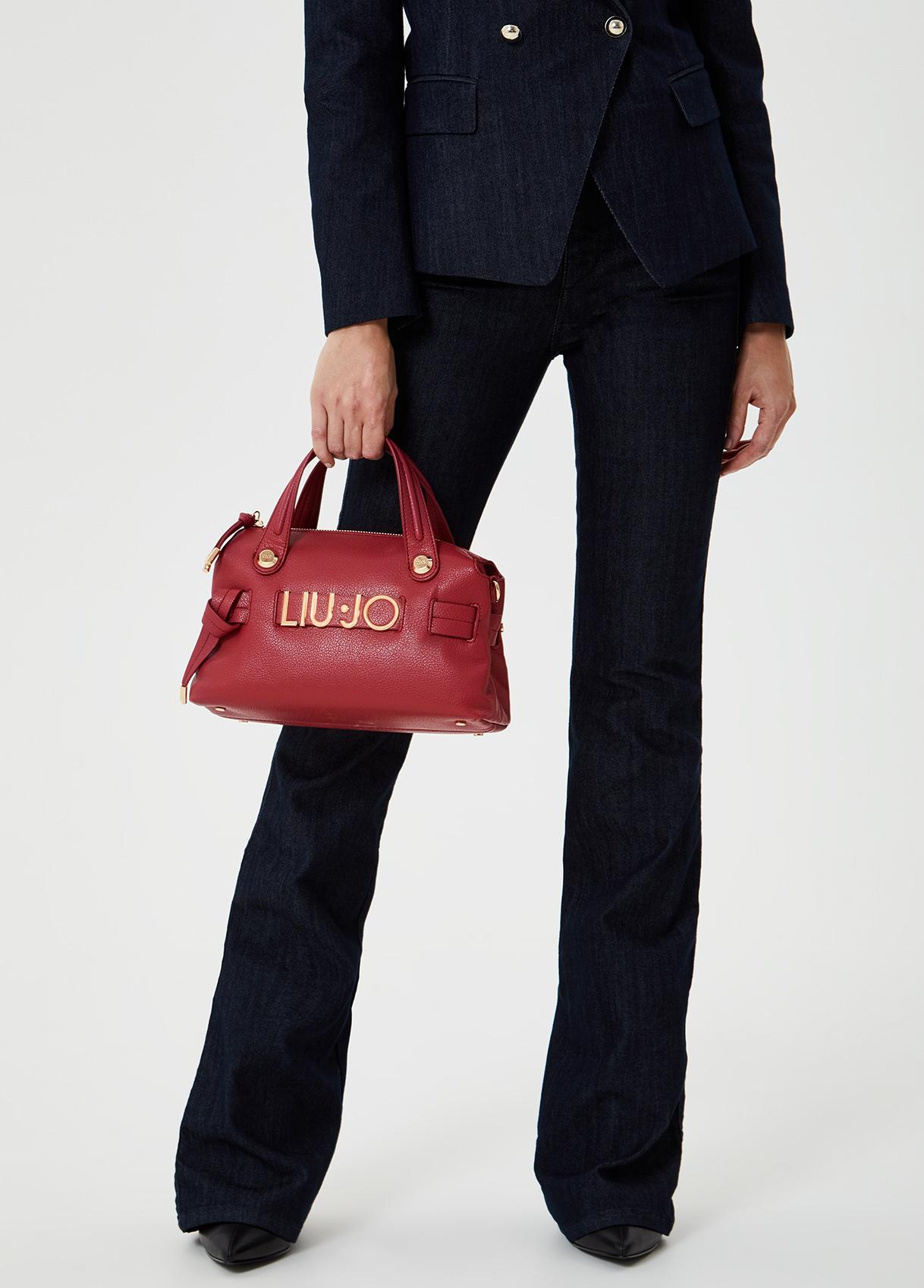 Bauletto piccolo con logo Rosso ciliegia Liu Jo - large