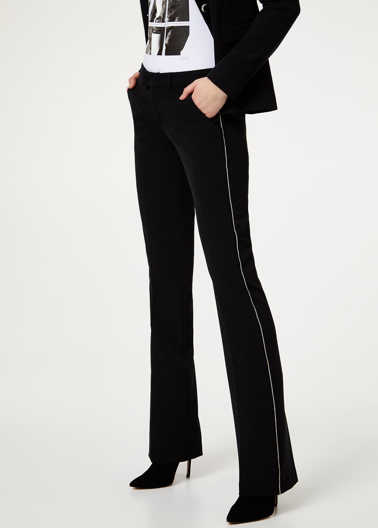 Pantalone elegante bootcut Nero Liu Jo - large