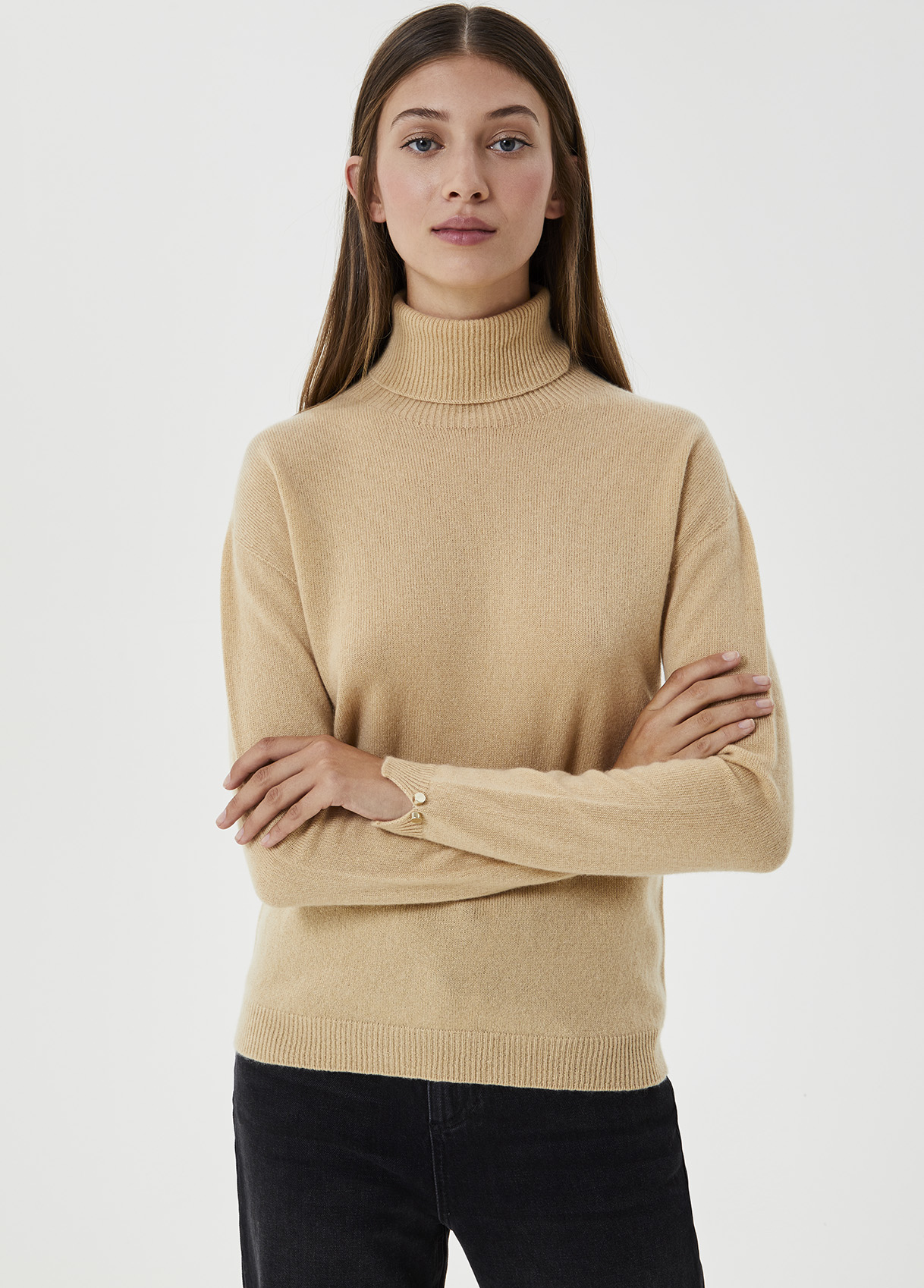 Dolcevita ecosostenibile in cashmere Marrone Liu Jo - large