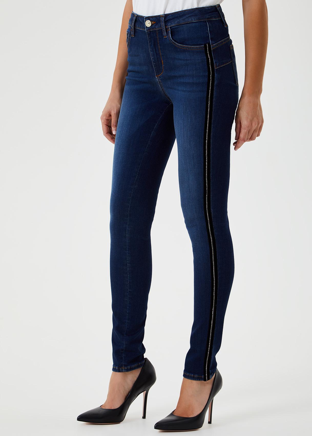 Jeans skinny a vita alta con strass-78098-liujo-large