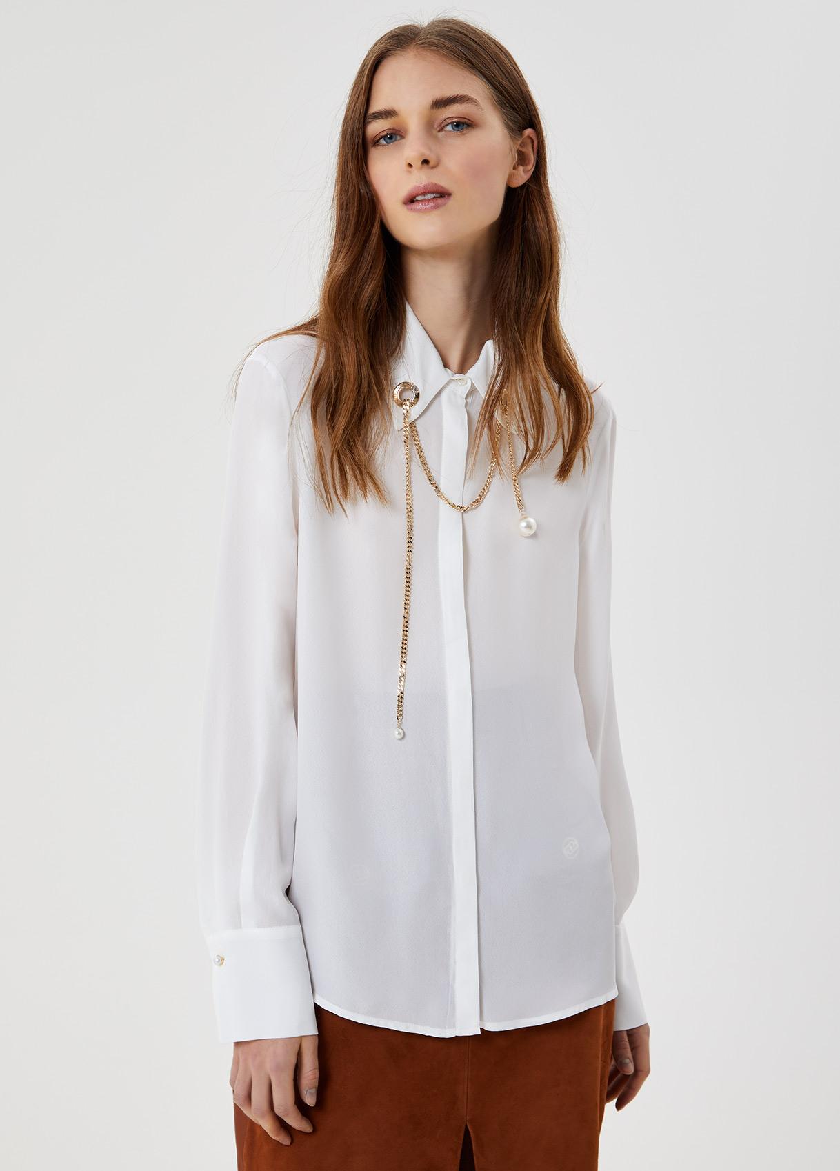 Camicia con dettaglio perla Stelle bianche Liu Jo - large