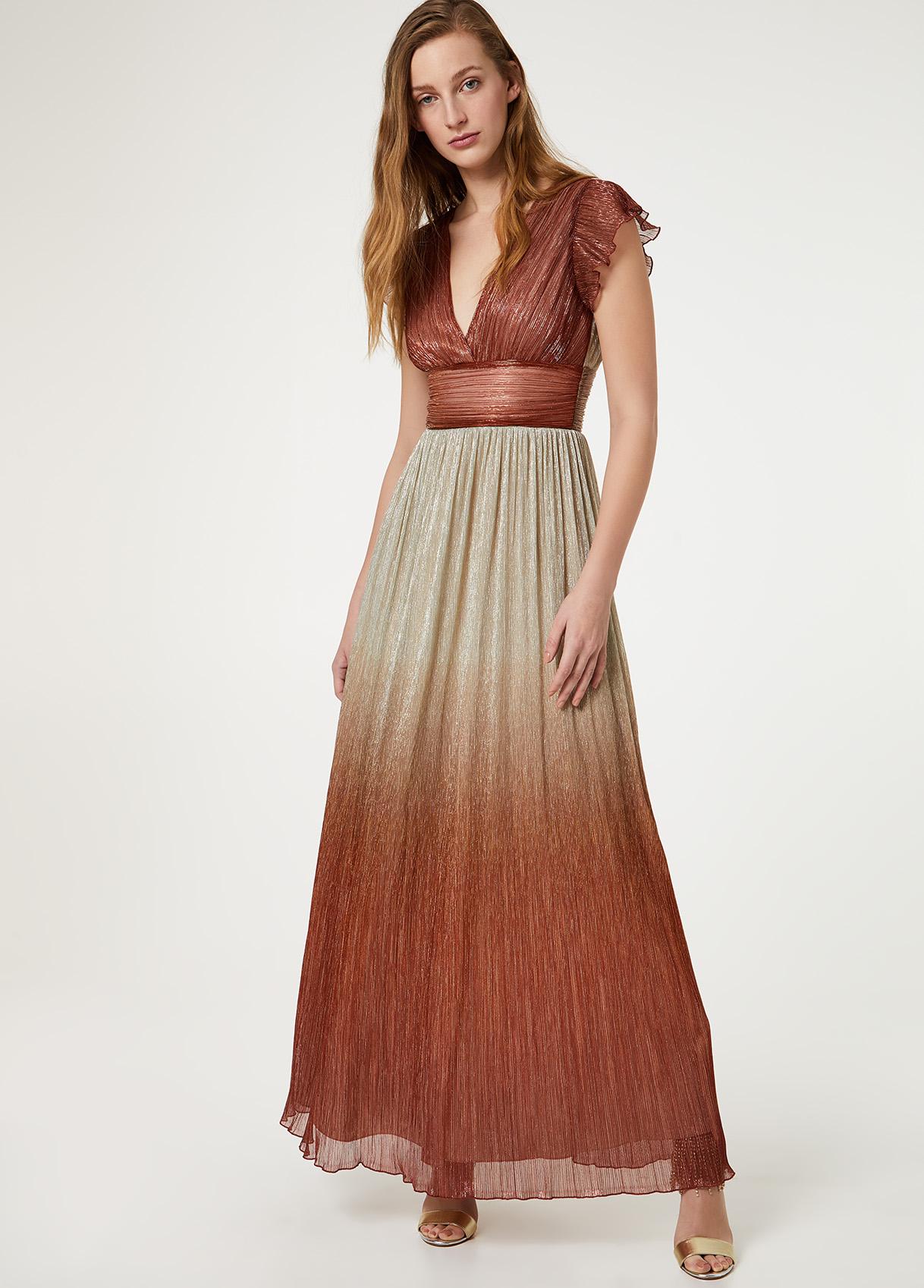 Langes Kleid aus Tüll mit Farbverlauf