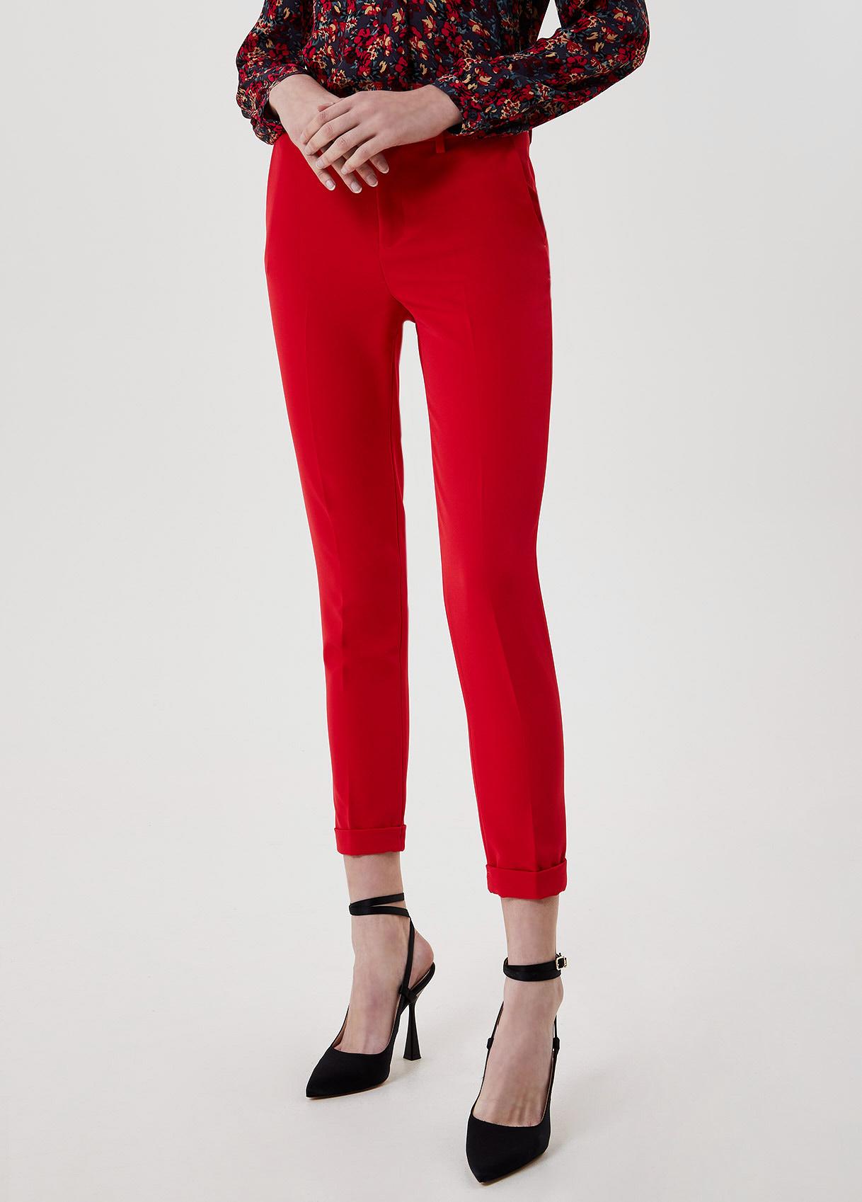 Pantalone cropped Rosso Liu Jo - large