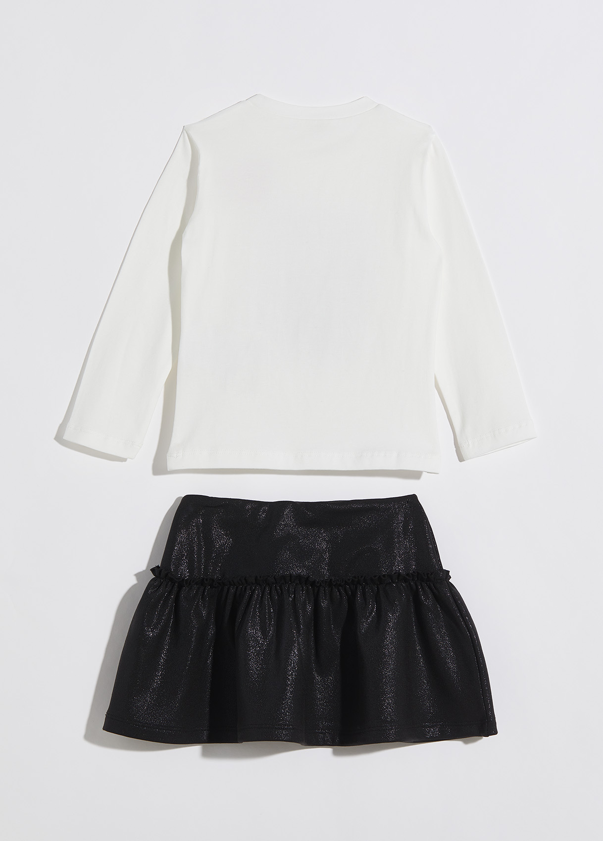 T-shirt and skirt outfit