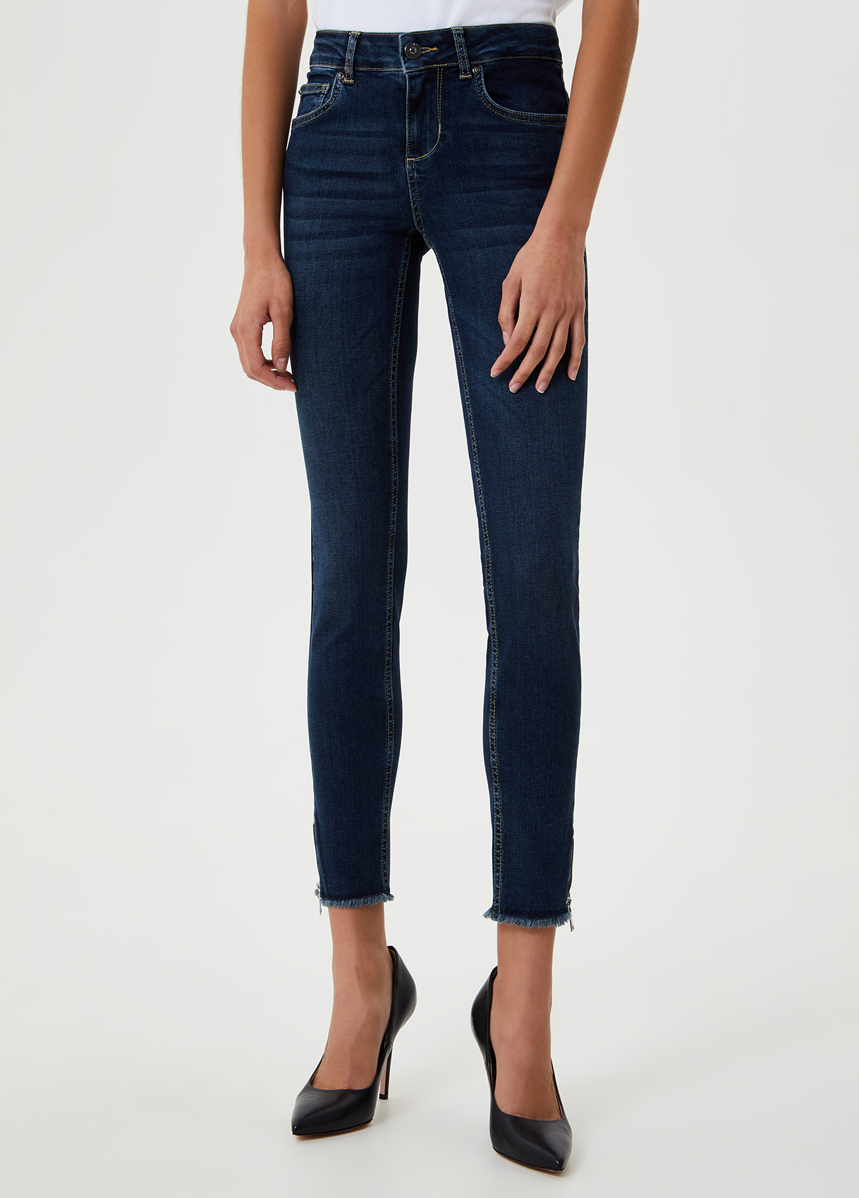 Jeans skinny con zip sul fondo Blu Liu Jo - large
