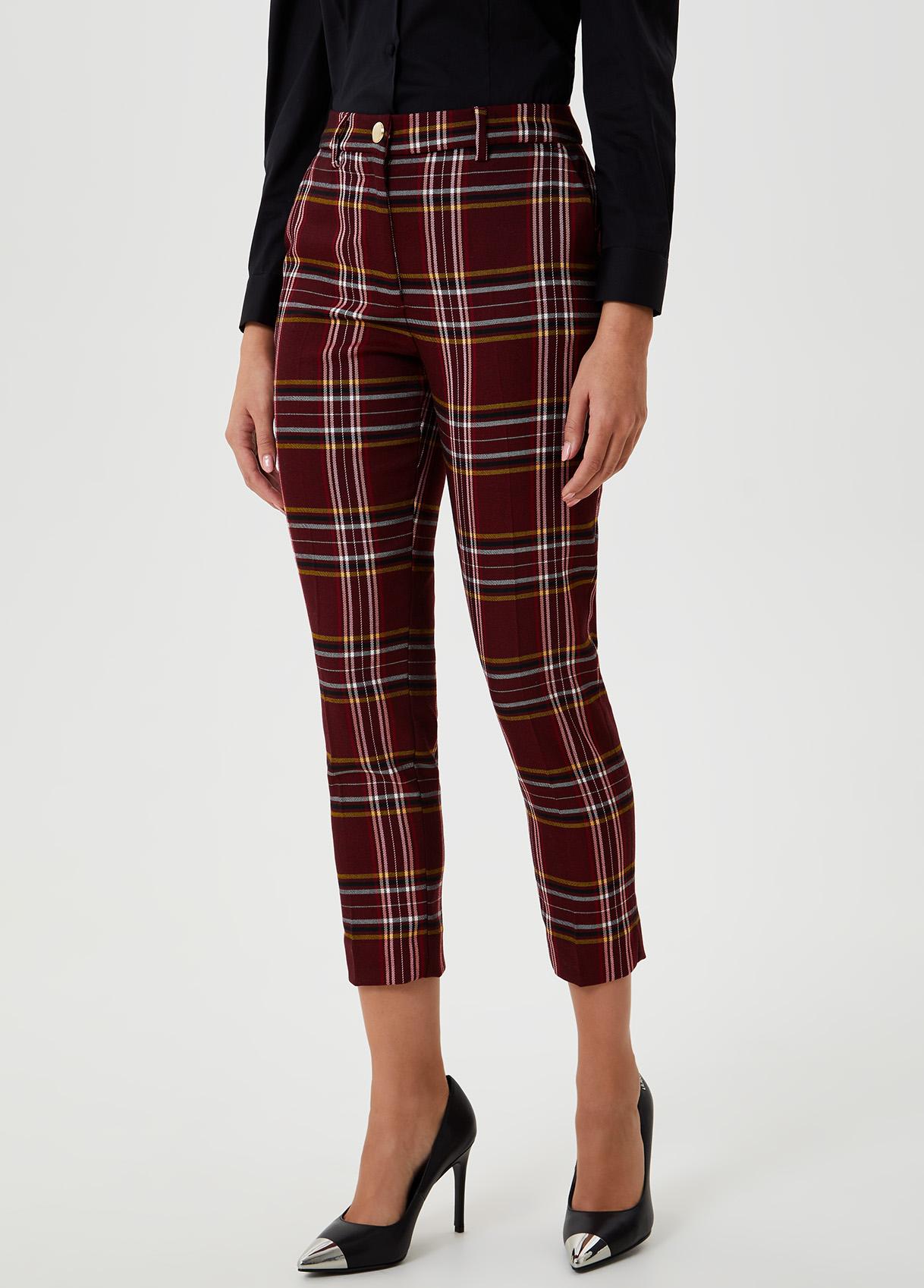 Pantalone in tartan Rosso Liu Jo - large