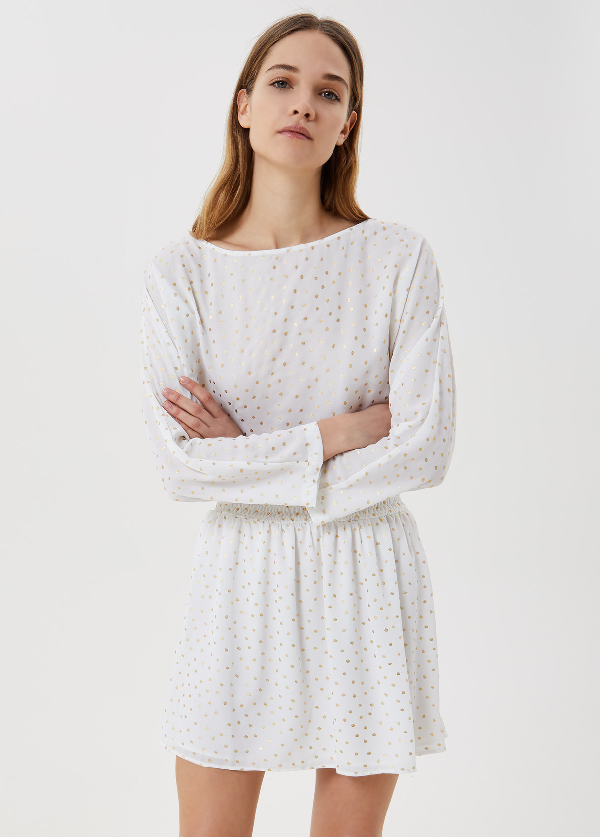 kurzes kleid mit lurex®