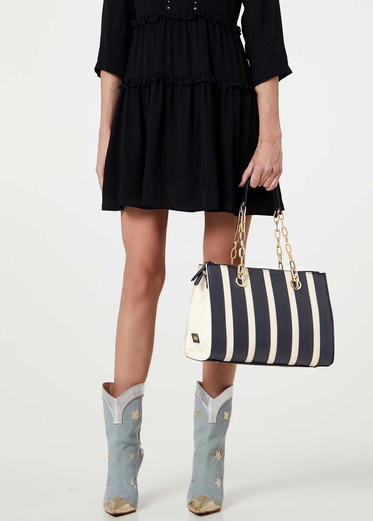 Shopping bag a righe-90013-liujo-large