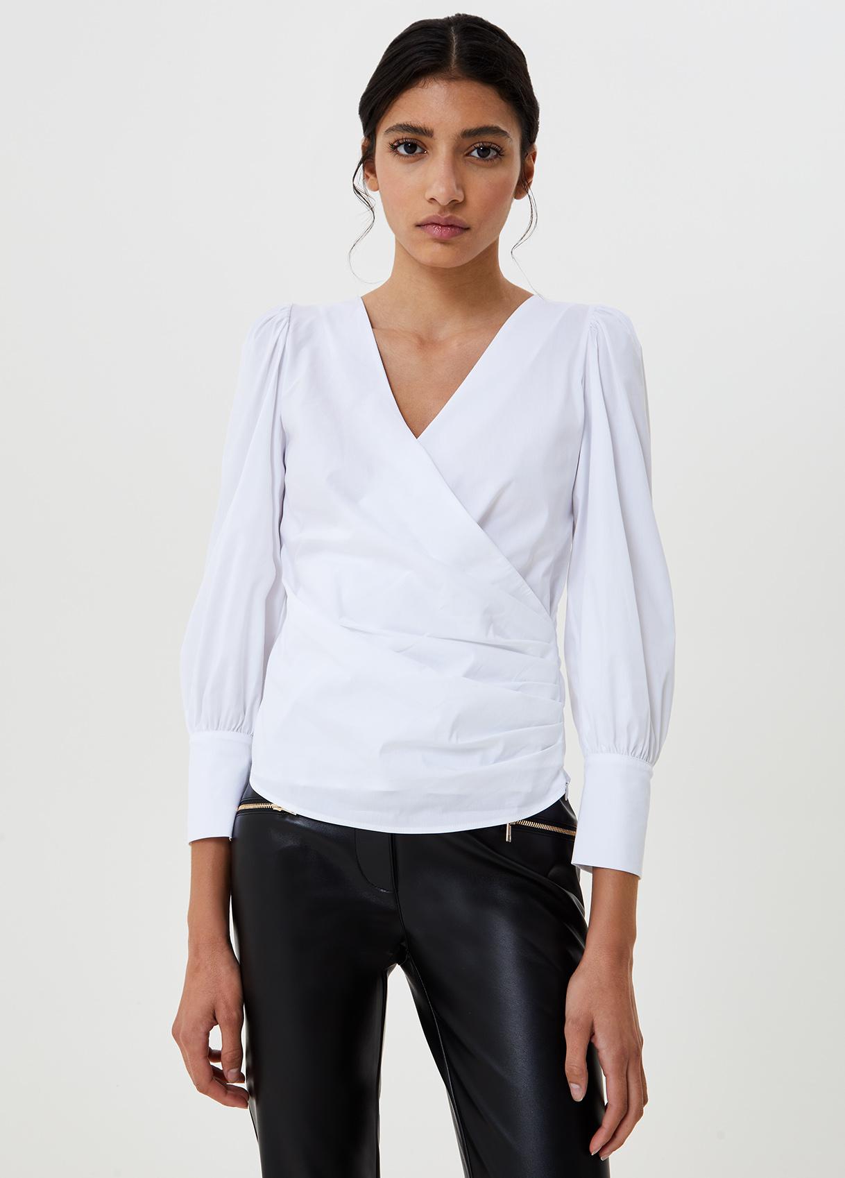 Blusa con incrocio Bianco Liu Jo - large