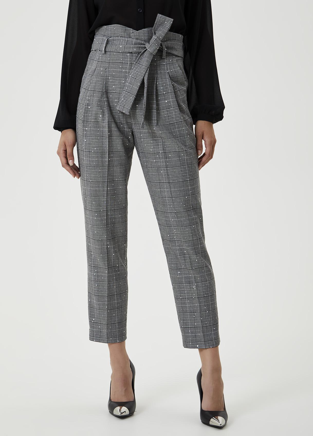 Pantalone elegante con fiocco Grigio Liu Jo - large