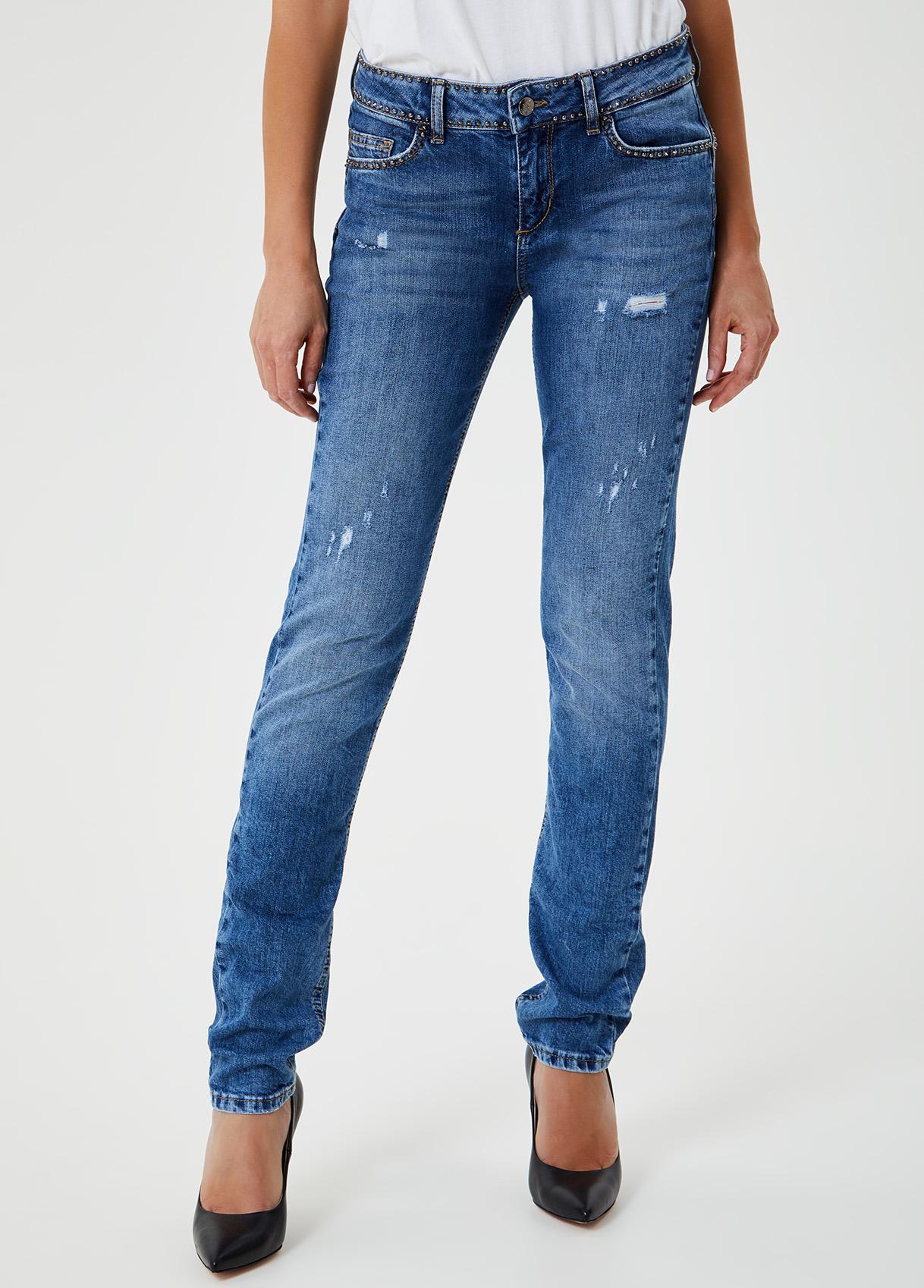 Jeans slim fit con borchie-78093-liujo-large